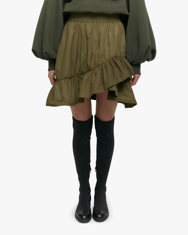 Ruffle Trimmed Mini Skirt