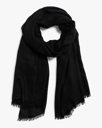 Eyelash Fringed Pure Cashmere Wrap