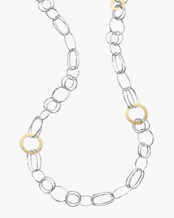 Ippolita Chimera Classico Mixed Hammered Disc Necklace 1