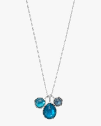 Wonderland Three Stone Charm Necklace