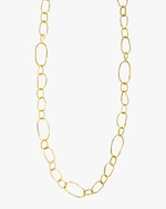 Ashley Morgan Textured Mixed Link Necklace 0