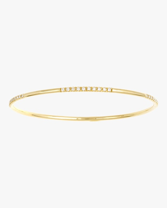 Ashley Morgan Yellow Gold Waxy Diamond Bangle 0