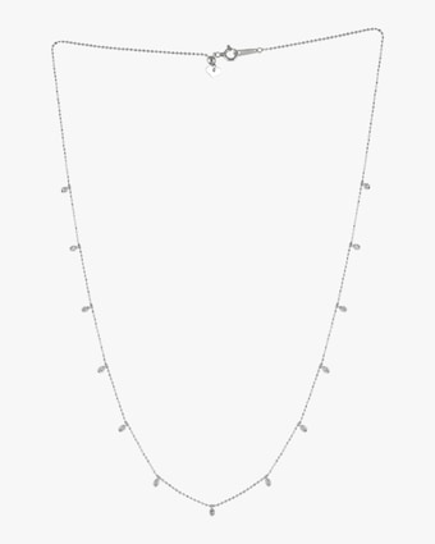 White Diamond Station Necklace