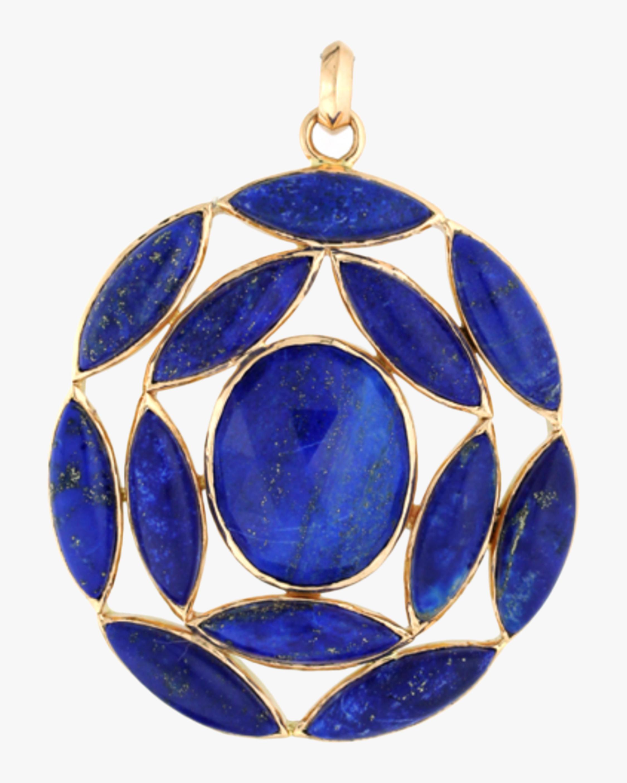 Marquise Lapis Lazuli Pendant Necklace