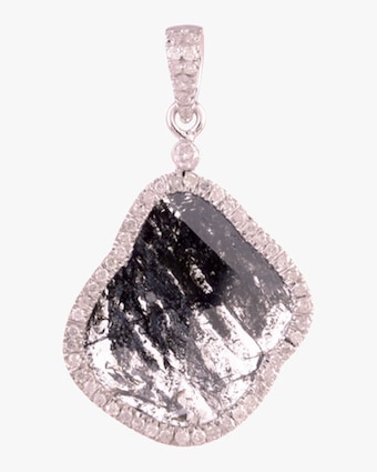 Ashley Morgan Diamond Slice Pendant Necklace 1