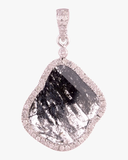 Ashley Morgan Diamond Slice Pendant Necklace 0