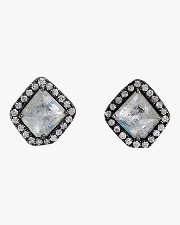 Ashley Morgan Blackened Gold Stud Earrings 2