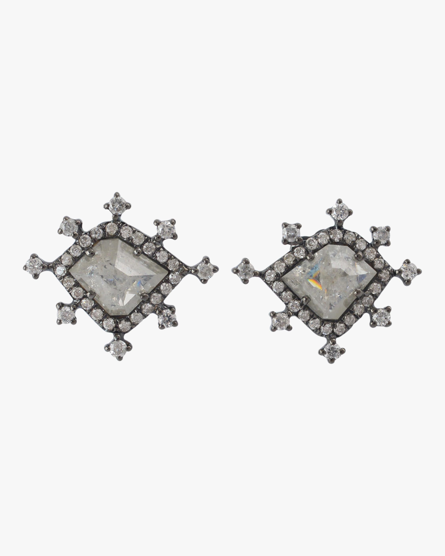 Ashley Morgan Ice Diamond Stud Earrings 2