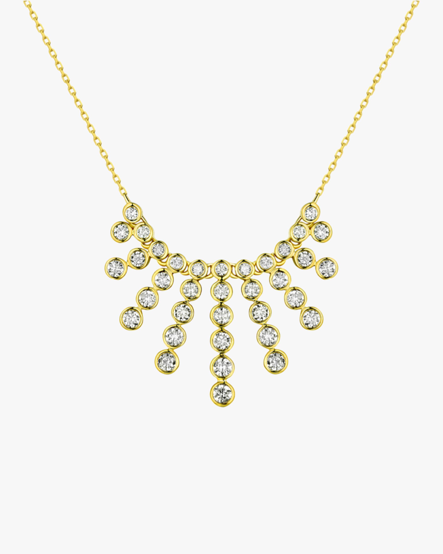 White Diamond Spray Necklace