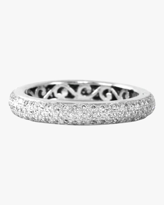 Ashley Morgan White Diamond Tyre Ring 0