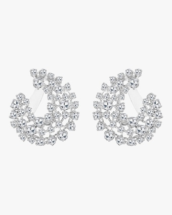 Arc Rose Cut Diamond Earrings
