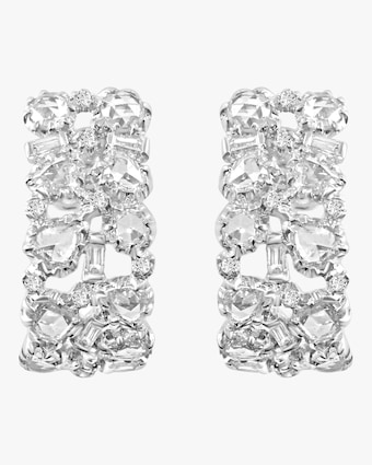 Celestial Rose Cut Diamond Earrings