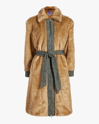 Boss Faux Fur Coat
