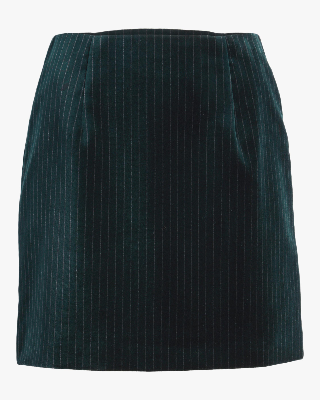 B-Line Velvet Mini Skirt