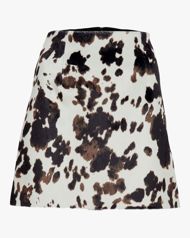 ALEXACHUNG Faux Hide Print Mini Skirt 1