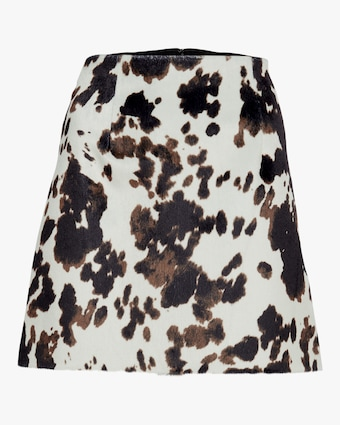 ALEXACHUNG Faux Hide Print Mini Skirt 1