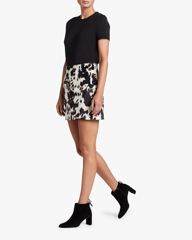 ALEXACHUNG Faux Hide Print Mini Skirt 2