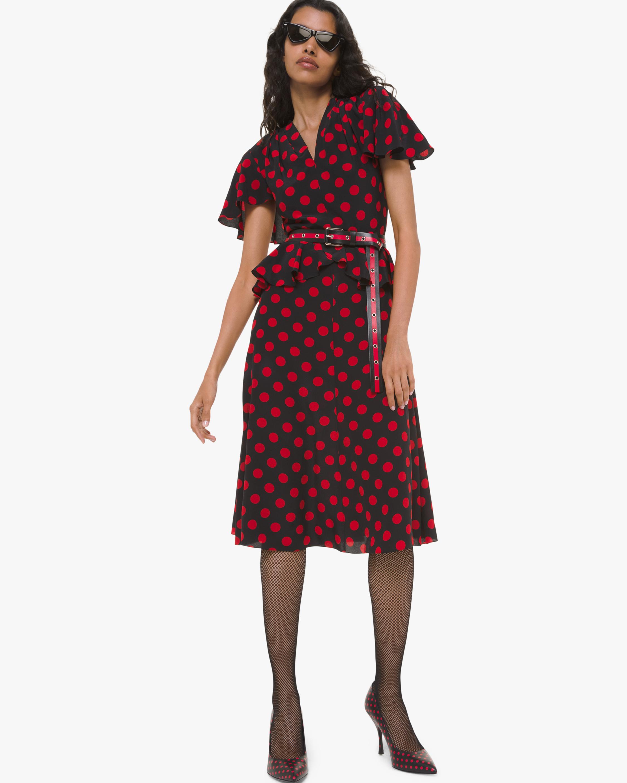 Michael Kors Collection Flutter Sleeve Peplum Dress 1