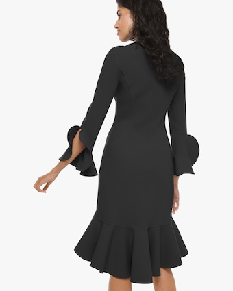 Flounce Sleeve Sheath Dress