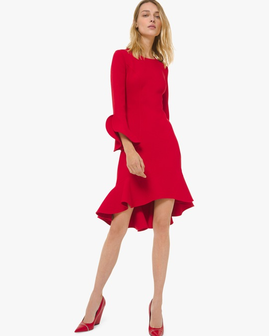 Michael Kors Collection Flounce Sleeve Sheath Dress 0