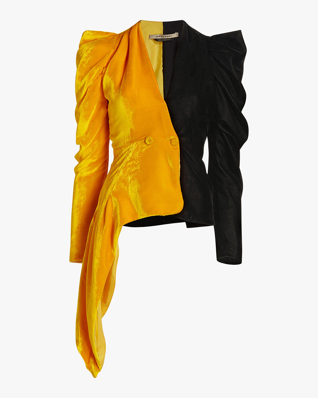 Deneuve Velvet Bi-Color Jacket