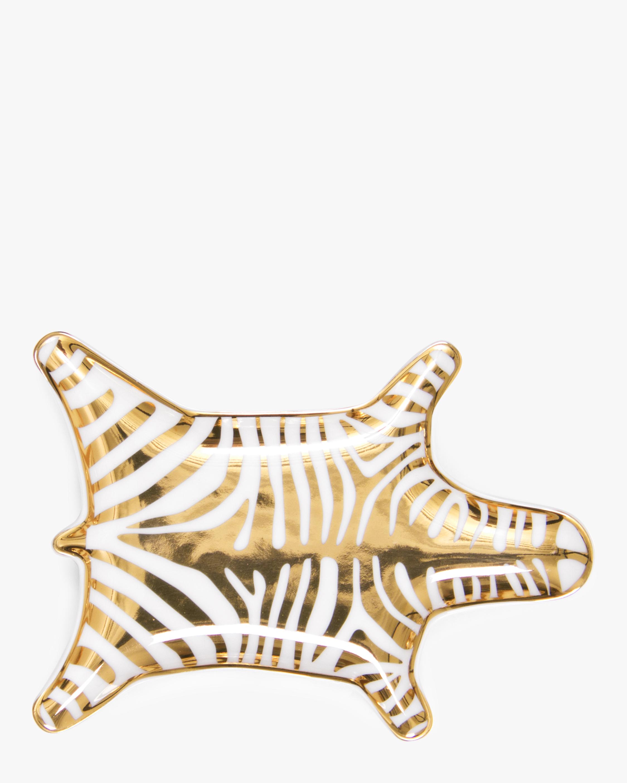 Jonathan Adler Gold Zebra Stacking Dish 0