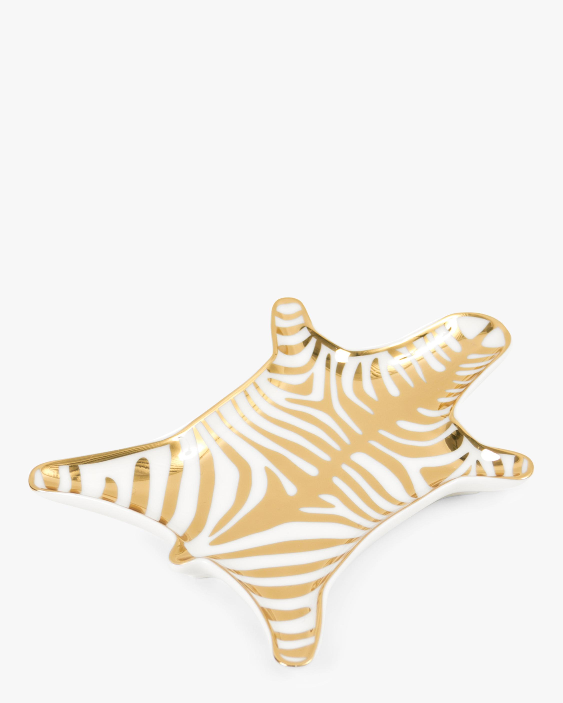 Jonathan Adler Gold Zebra Stacking Dish 1