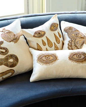 Muse Eyes Throw Pillow