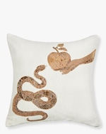 Jonathan Adler Muse Snake & Apple Throw Pillow 0