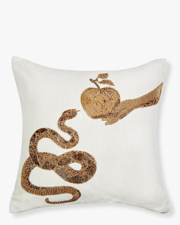 Jonathan Adler Muse Snake & Apple Throw Pillow 1