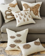 Jonathan Adler Muse Snake & Apple Throw Pillow 1