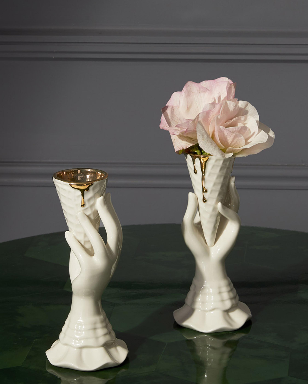 Jonathan Adler Gilded I-Scream Vase 2