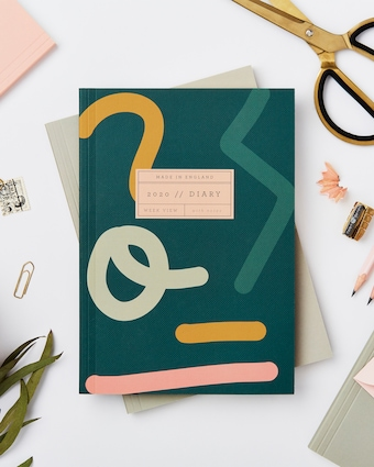 Abstract Soft Cover 2020 Diary