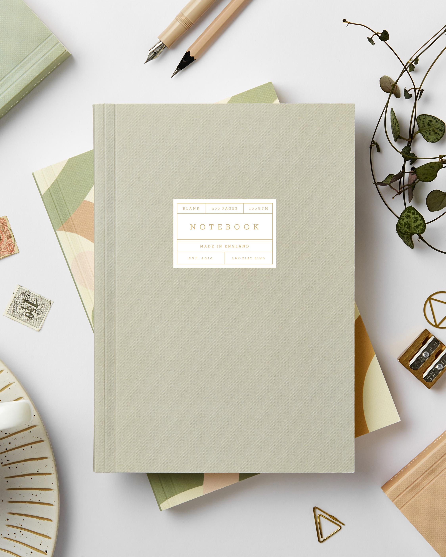 Grey Lay Flat Notebook