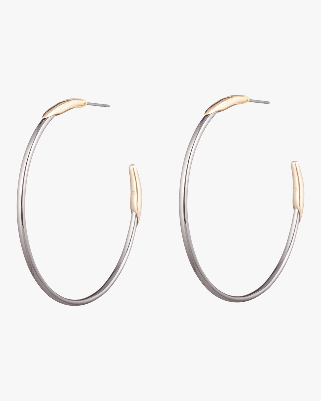 Alexis Bittar Two Tone Hoop Earrings 1
