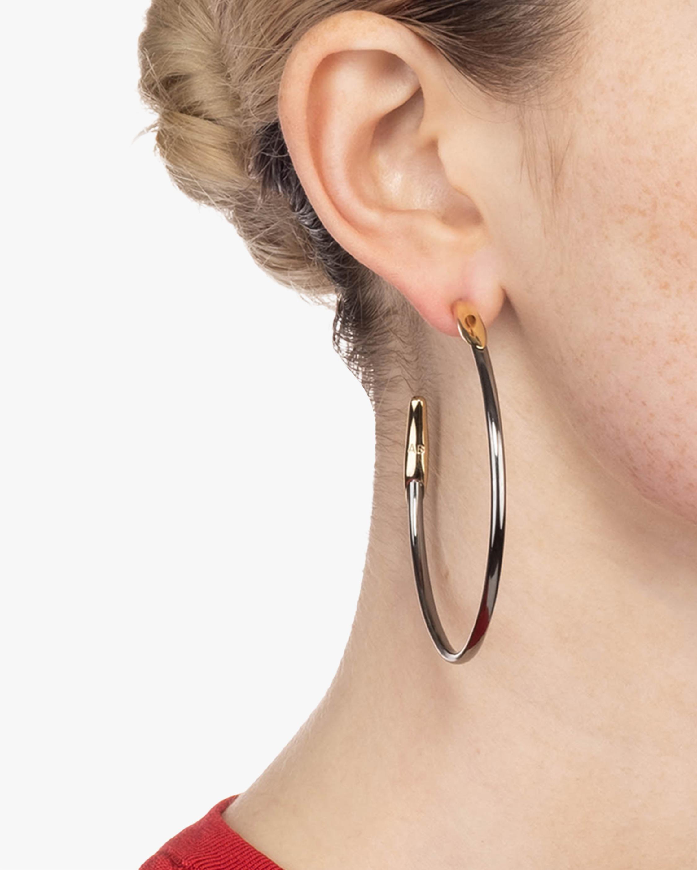 Alexis Bittar Two Tone Hoop Earrings 2