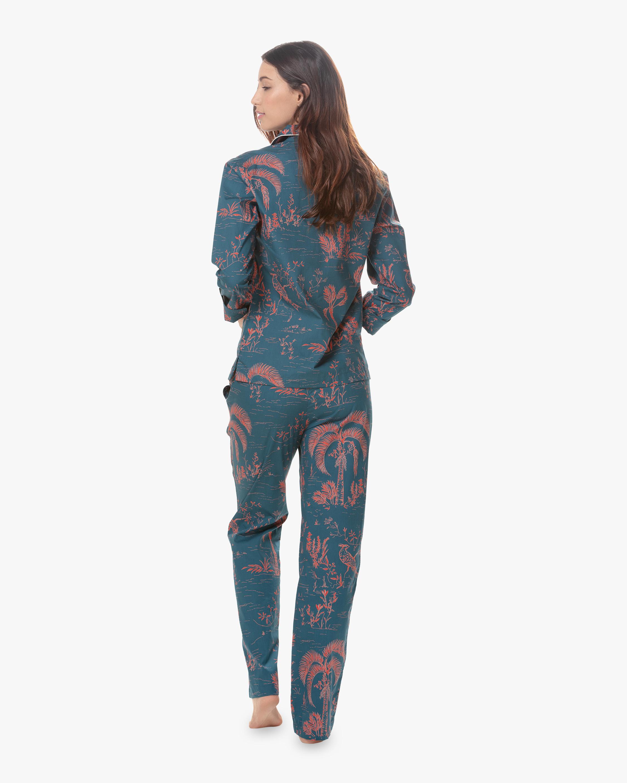 Emma Classic Linen Long Pajama Set