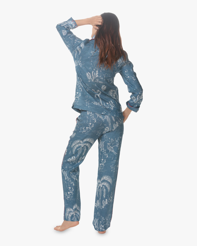 The Lazy Poet Emma Classic Linen Long Pajama Set 2