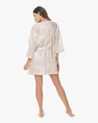 Lola Linen Belted Robe