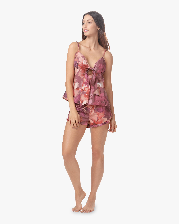 Rosie Linen Camisole Shorts Pajama Set