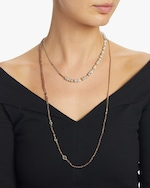 objet-a Sapphire and Gold Beads Curb Chain Necklace 1