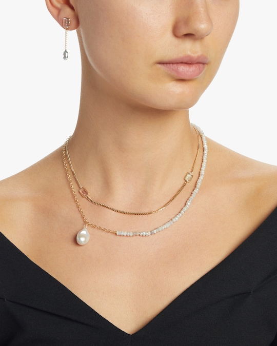 objet-a Sapphire and Baroque Pearl Cable Chain Necklace 1