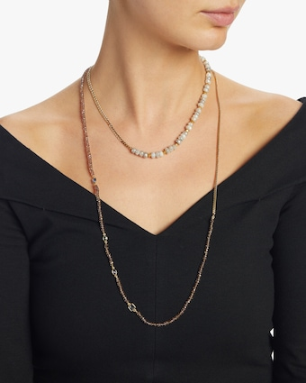 objet-a Champagne Sapphire Curb Chain Necklace 2