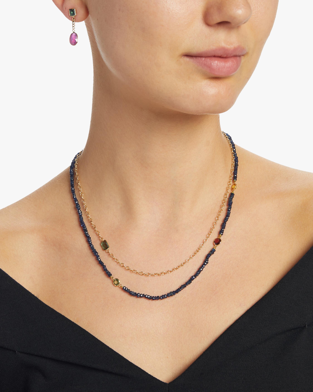 objet-a Blue Sapphires Cable Chain Necklace 1