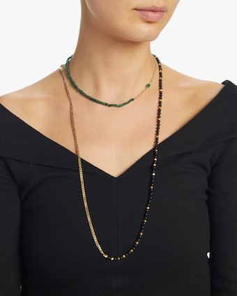 Emerald Cable Chain Necklace