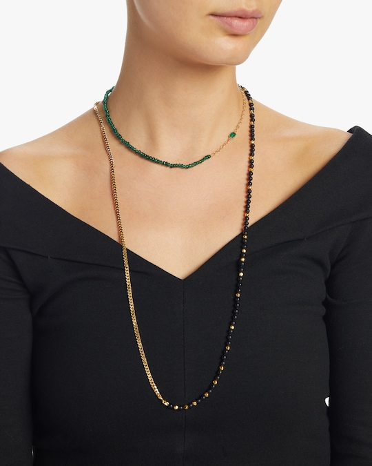 objet-a Emerald Cable Chain Necklace 1