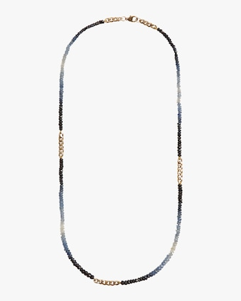 objet-a Ombre Blue Sapphire Curb Chain Necklace 1