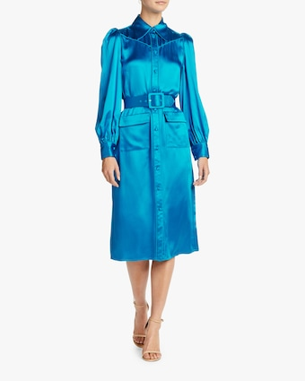 Divine Heritage Azure Shirt Dress 2