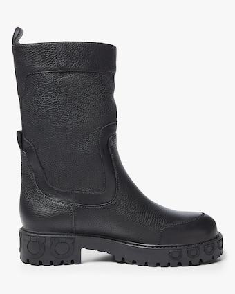 Ashby Textured-leather Boots