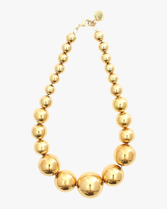 Degrade Gold Ball Necklace